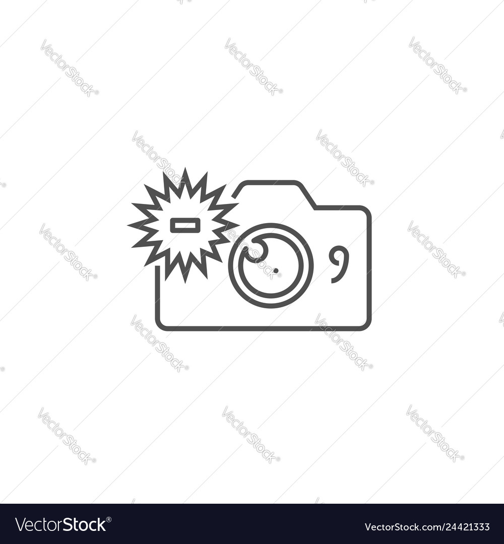 Camera related line icon