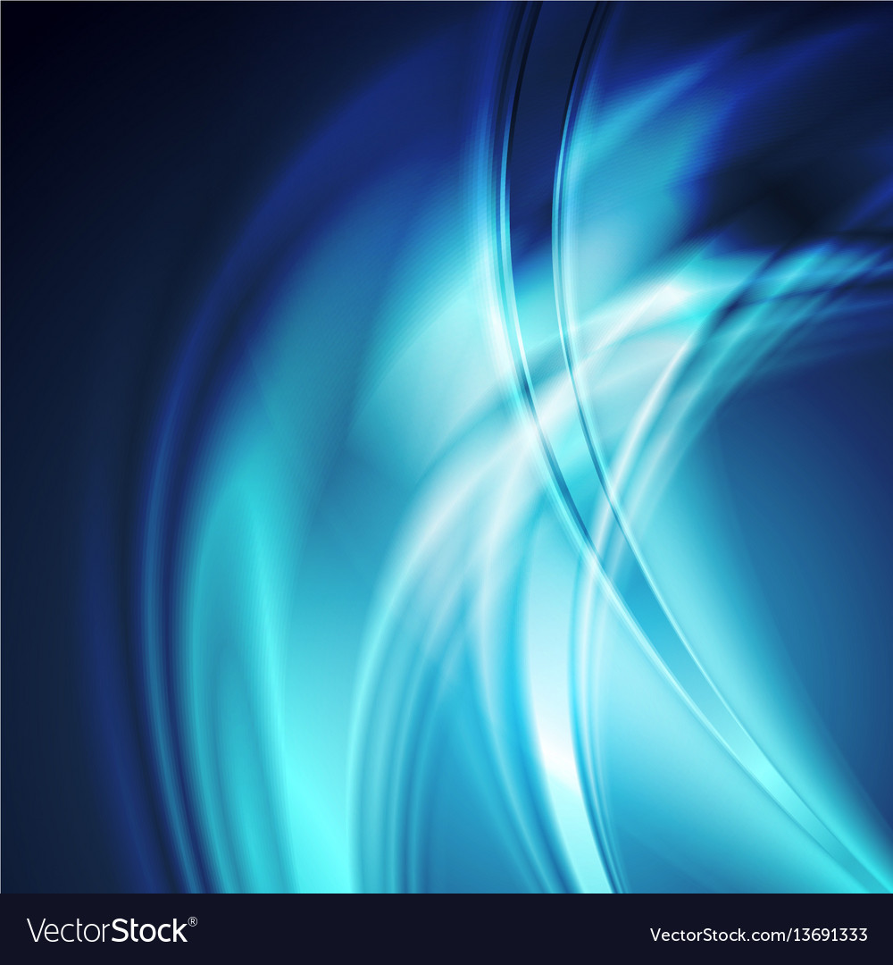 Dark blue smooth blurred abstract waves background