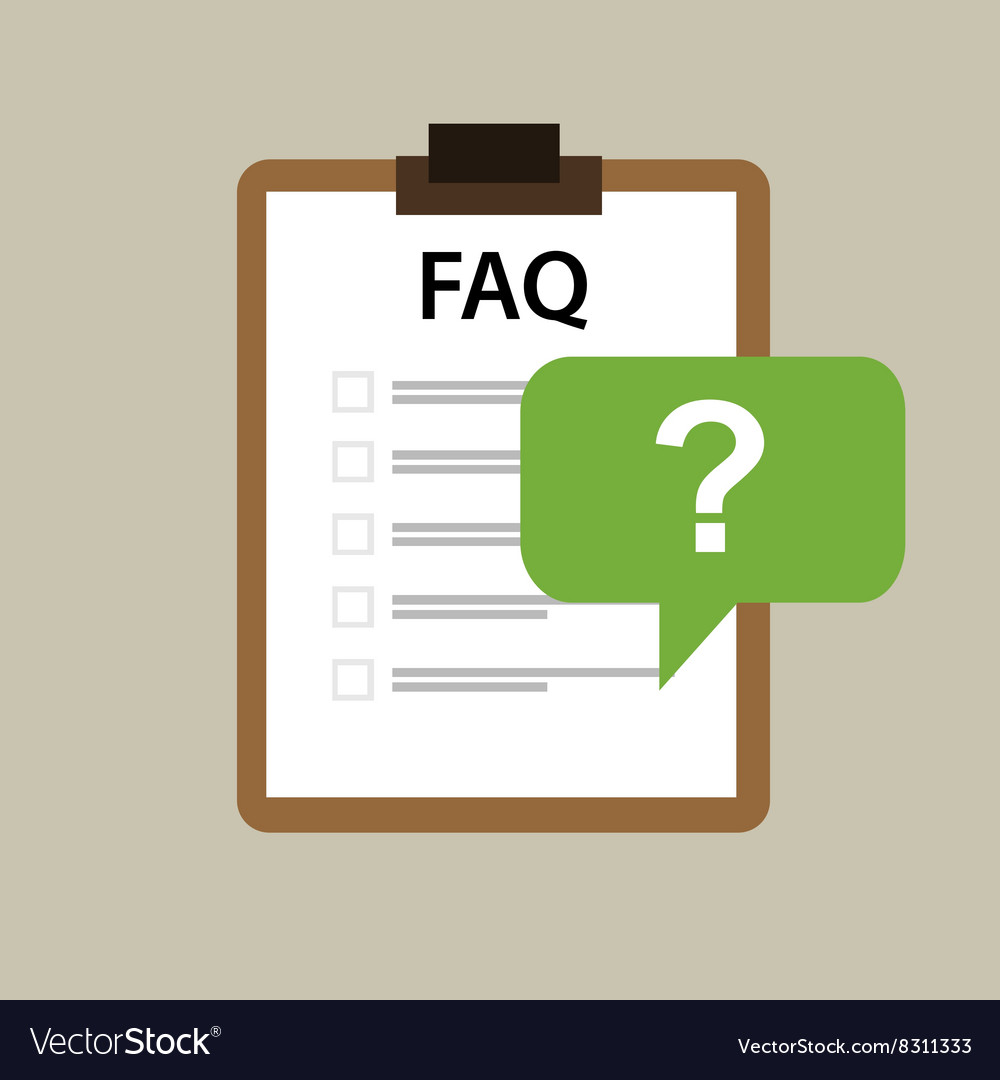 Faq frequently asked question icon mark