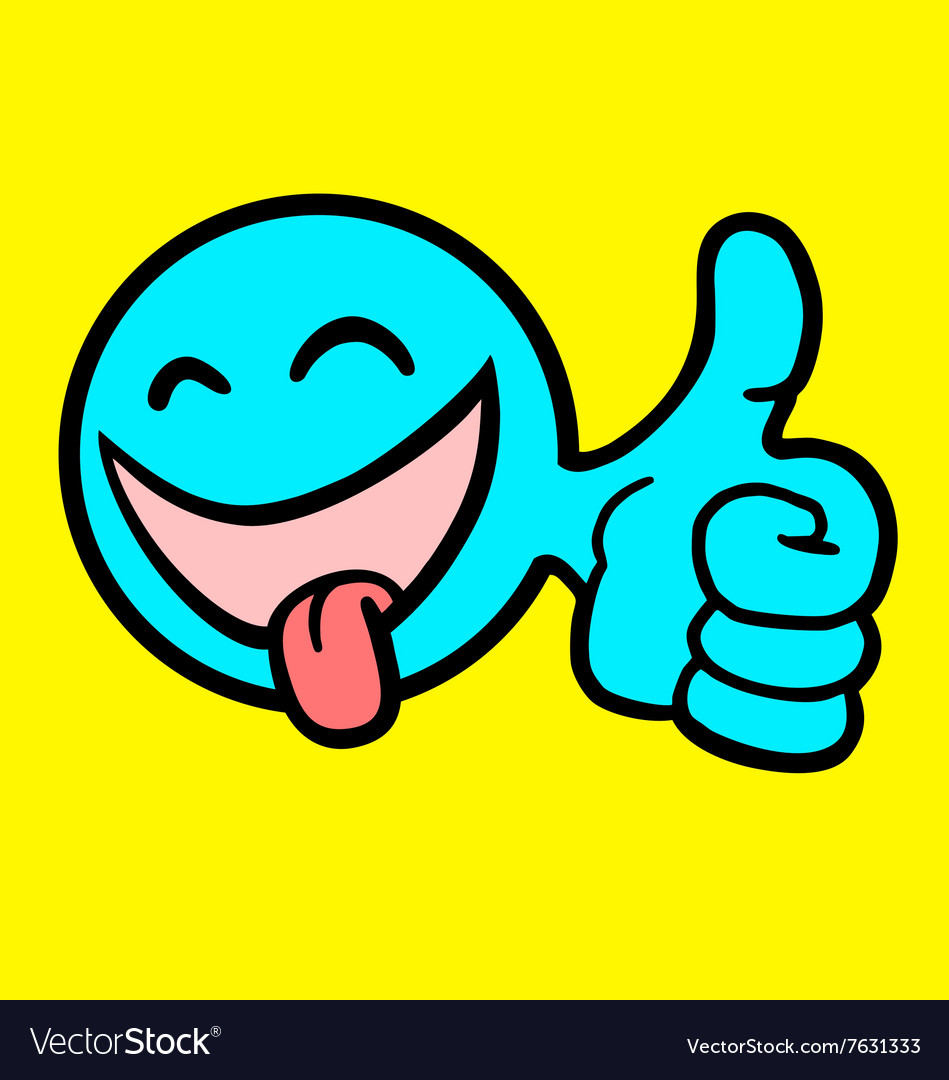 Funny face vector image