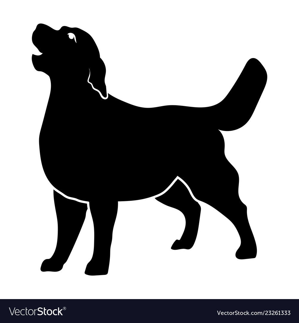 Golden Retriever Silhouette Royalty Free Vector Image