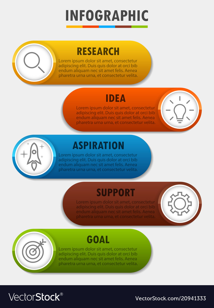 Infographicfor diagram business with 5 options
