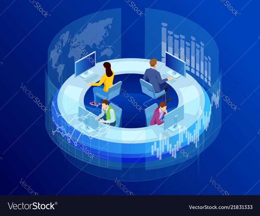 Isometric business data analytics process