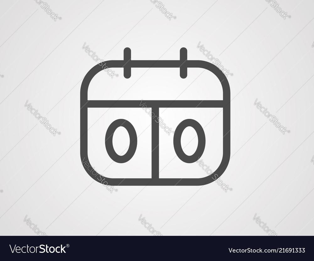 Score board icon sign symbol