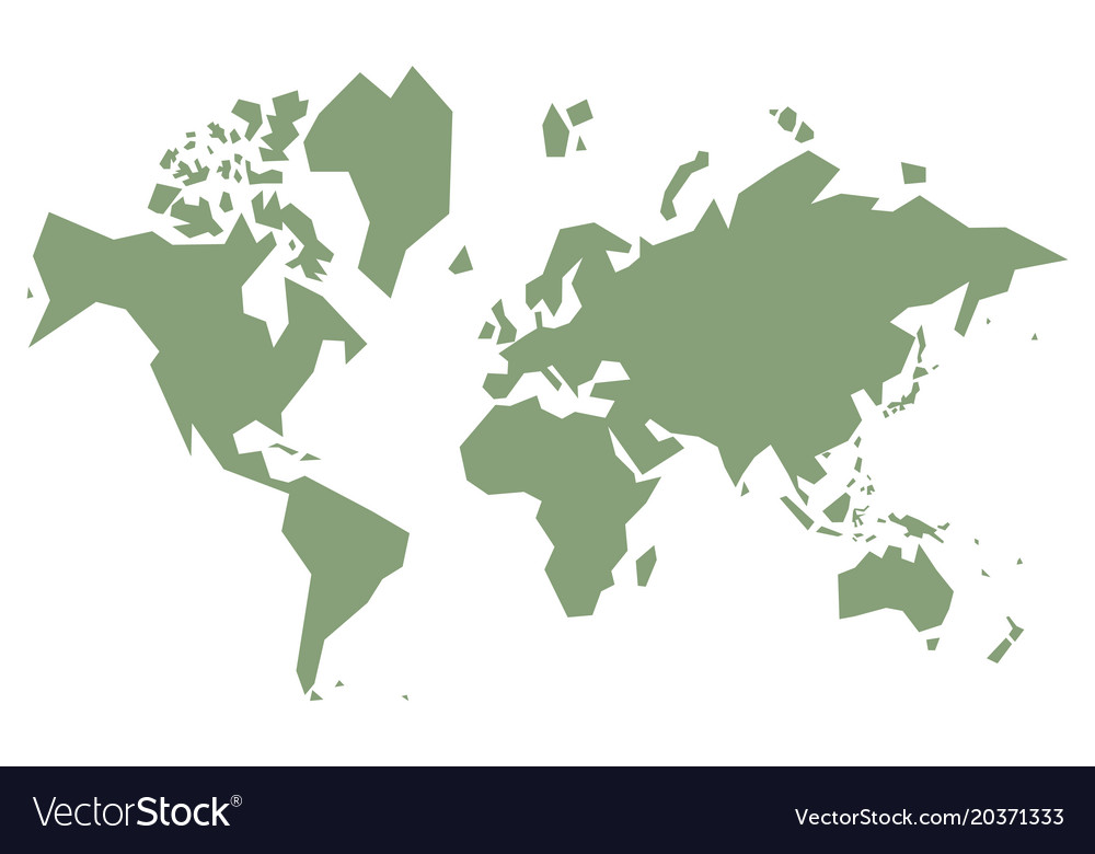Simple World Map Simple world map Royalty Free Vector Image   VectorStock
