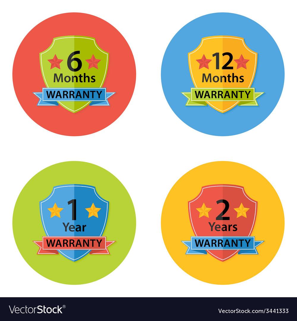 Warranty Flat Circle Icons Set 3