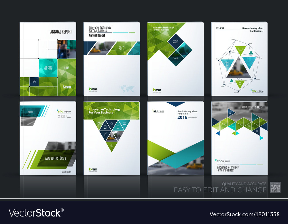 Business set Brochure template layout