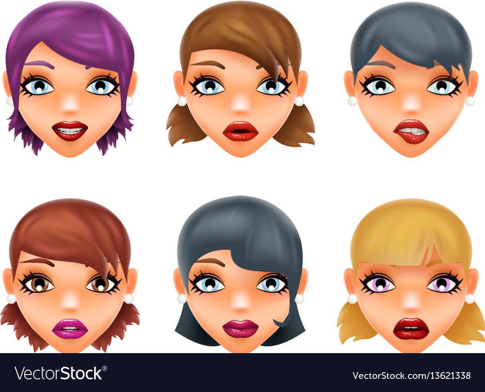 Girls stylish woman lips slightly open mouth