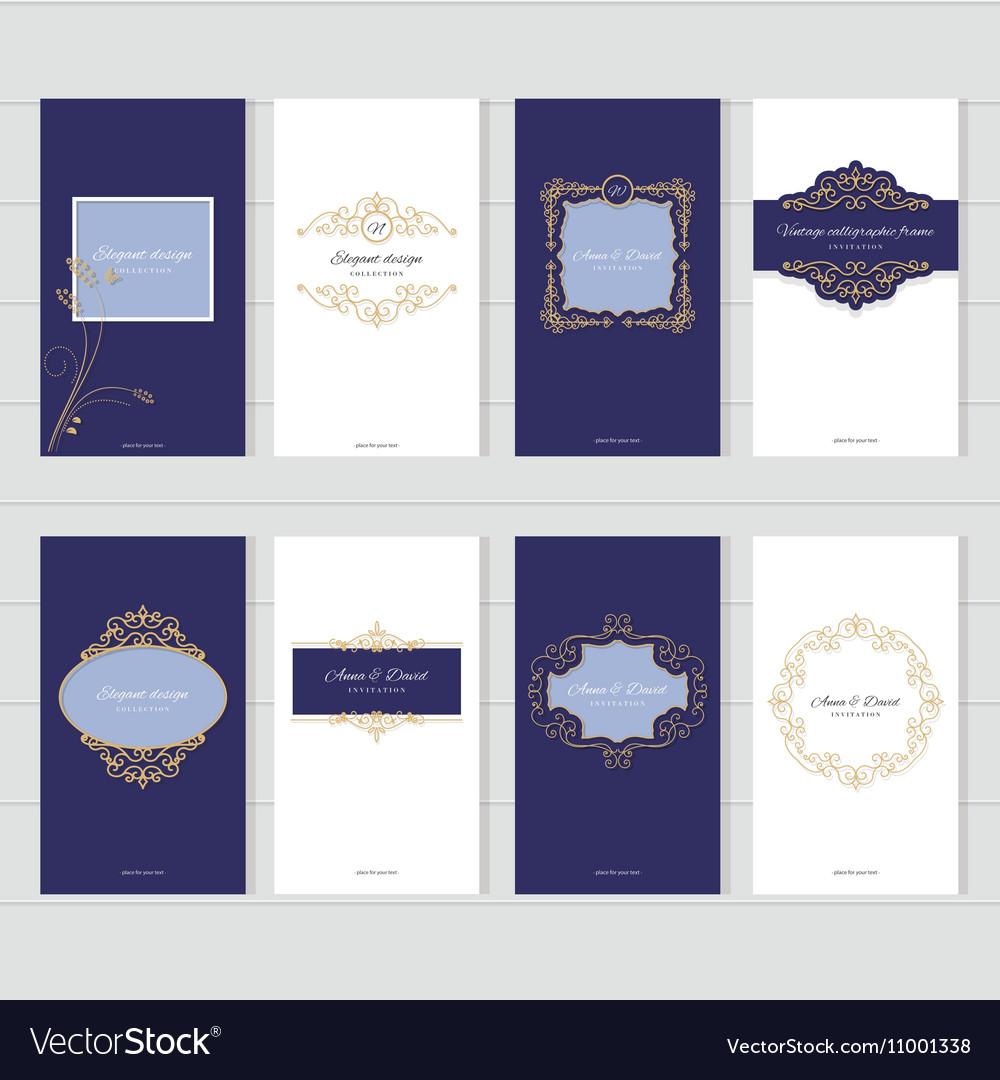 Luxury vintage card templates set