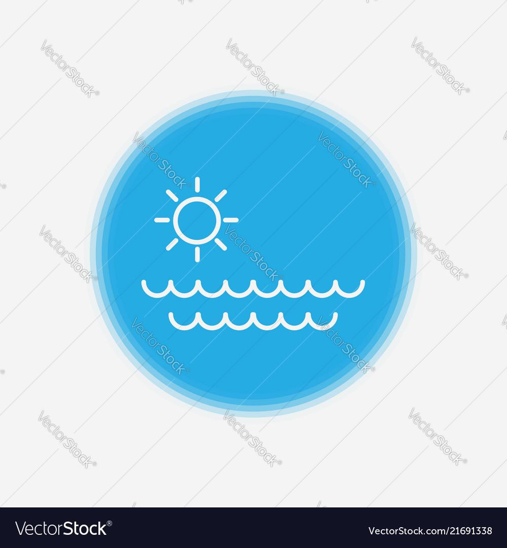 Sea icon sign symbol