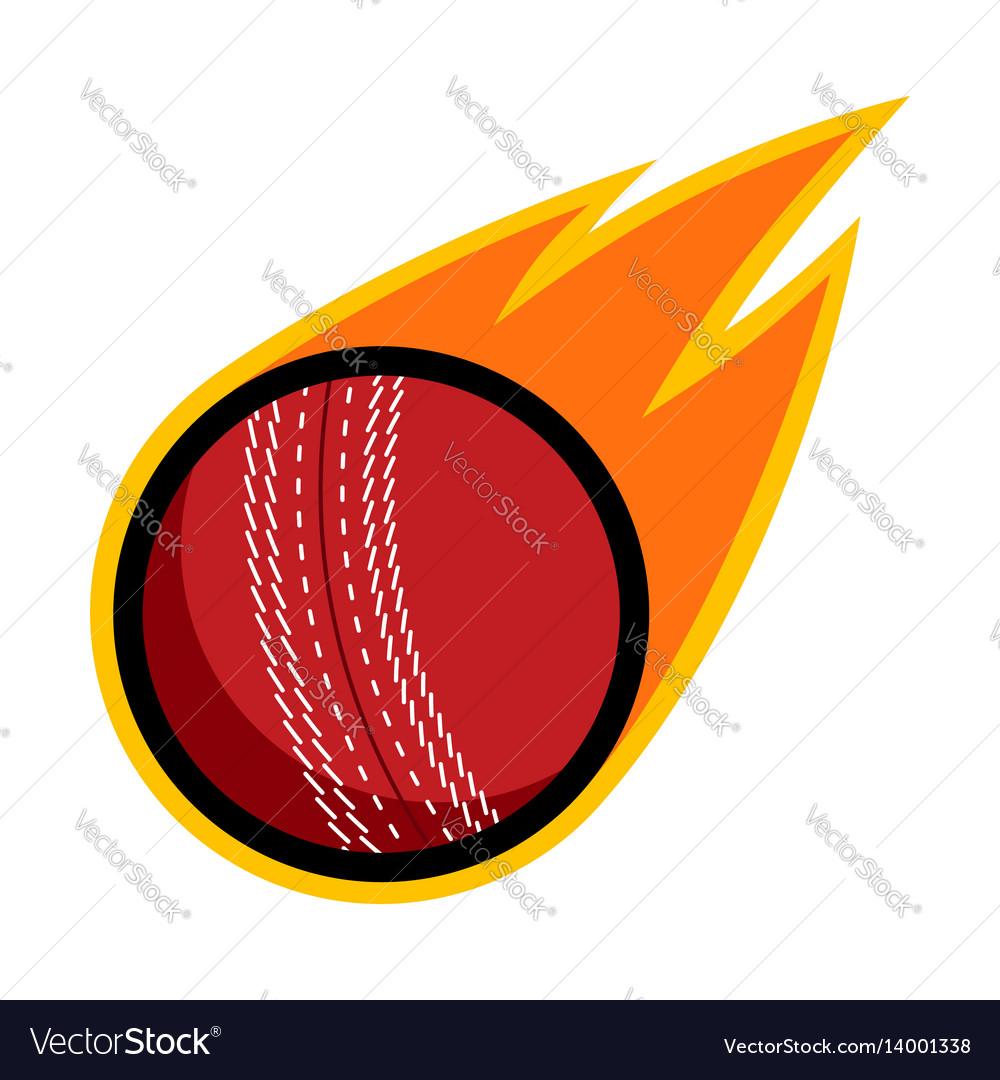 Sport ball fire cricket