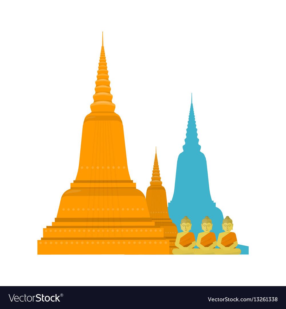 Thailand templ with buddha