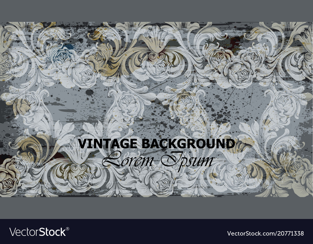 Vintage ornament card background intricate vector image