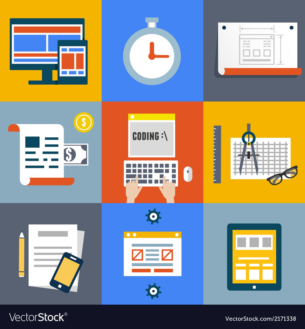 Web coding and programming user interface elements