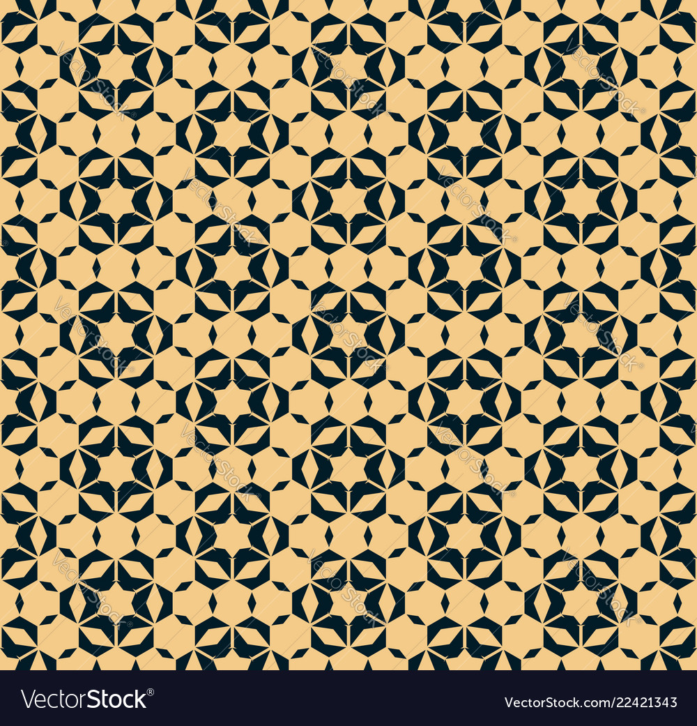 Abstract floral geometric seamless pattern