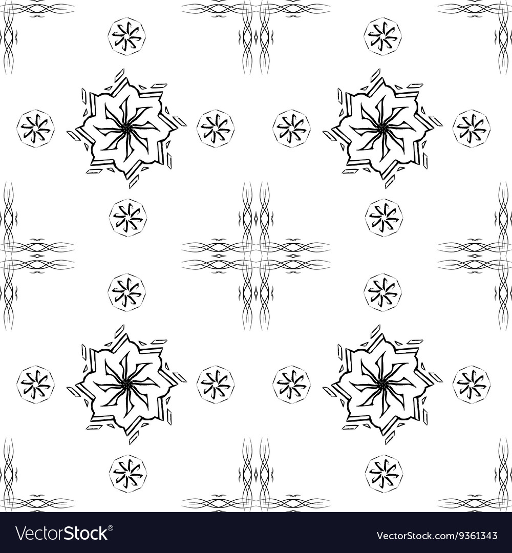 Abstract pattern in Oriental style Design wall