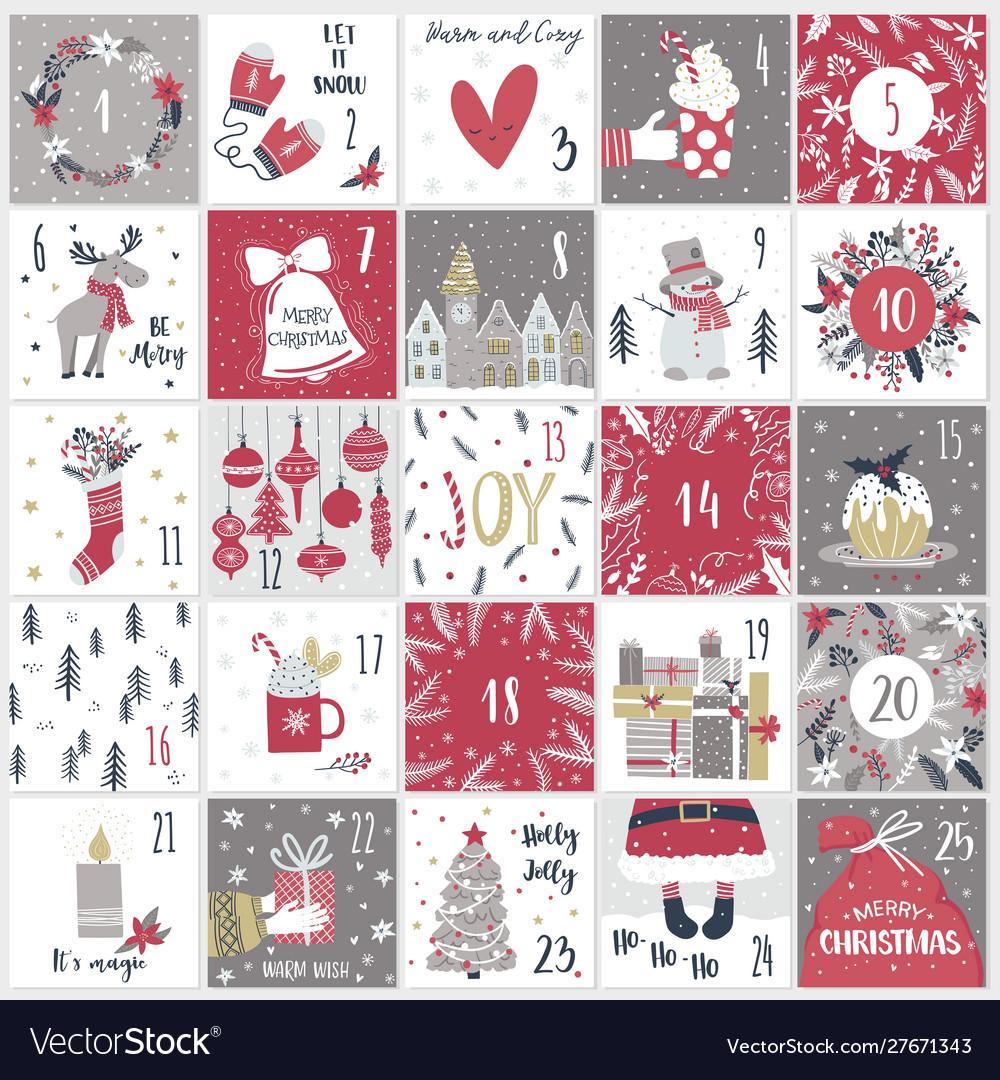 Christmas advent calendar countdown till