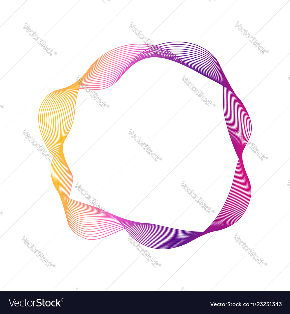 Dynamic blend ring shape abstract modern graphic