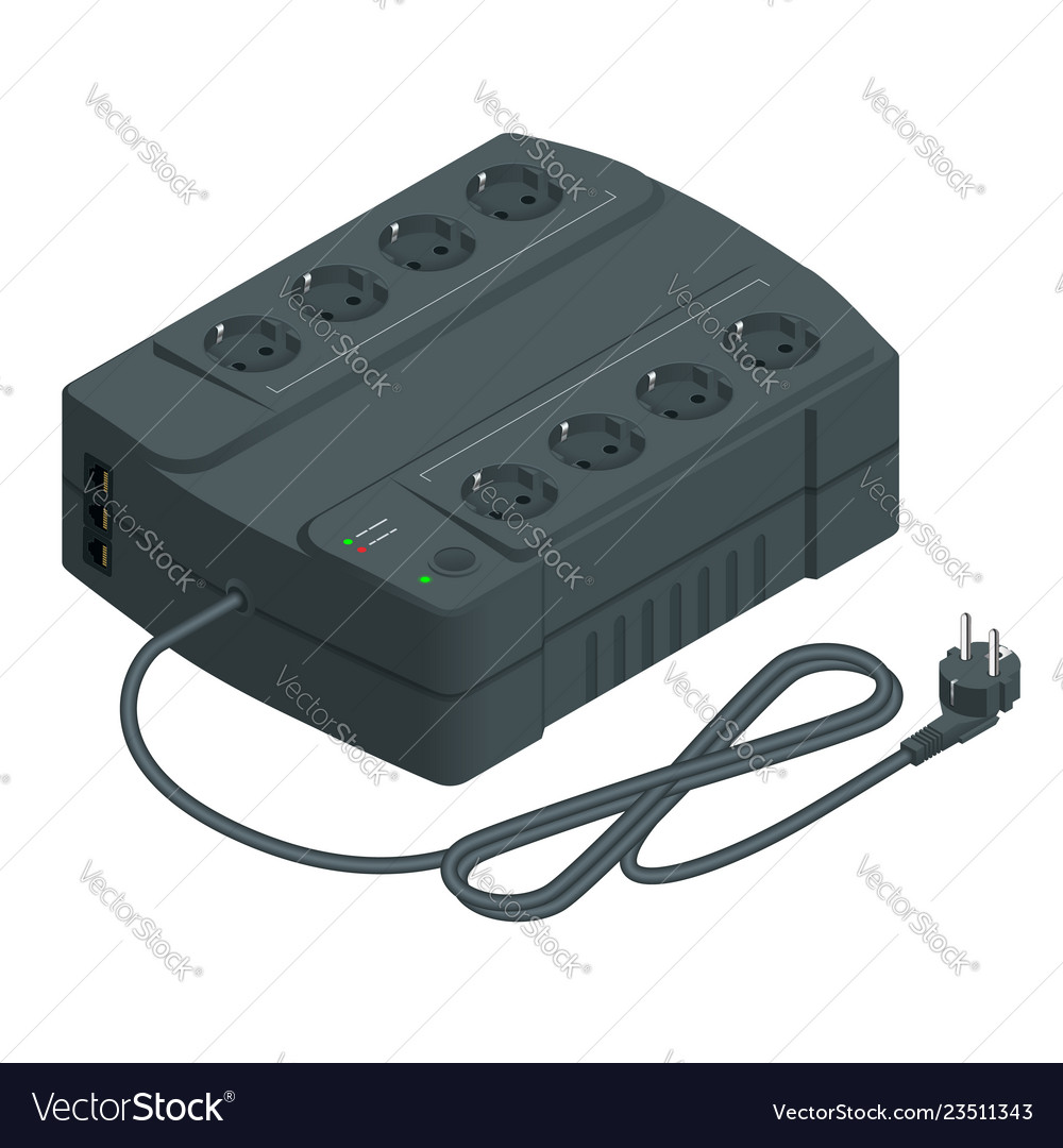 Isometric an uninterruptible power supply or