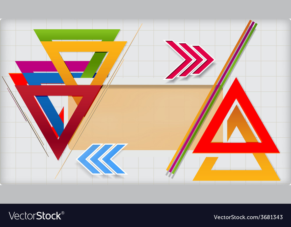 Modern geometric template vector image