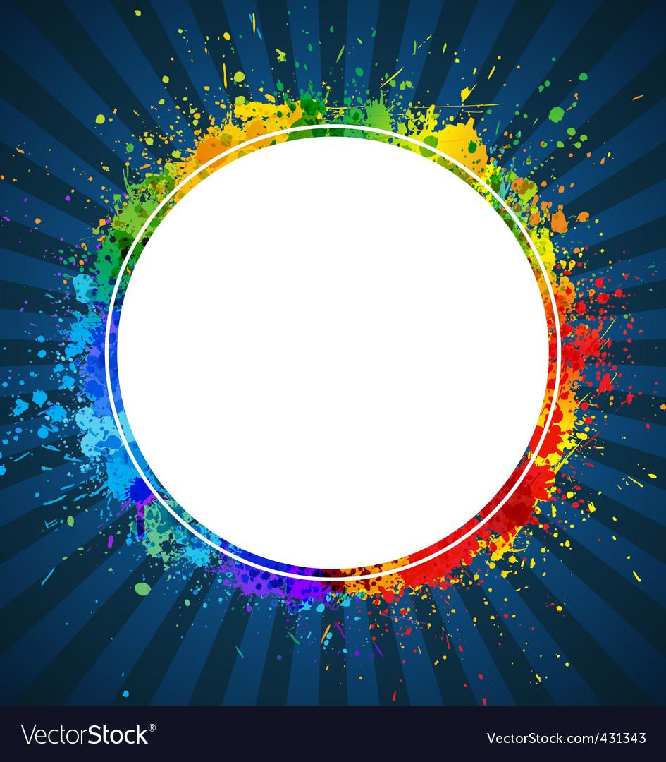 Splashes round background vector image
