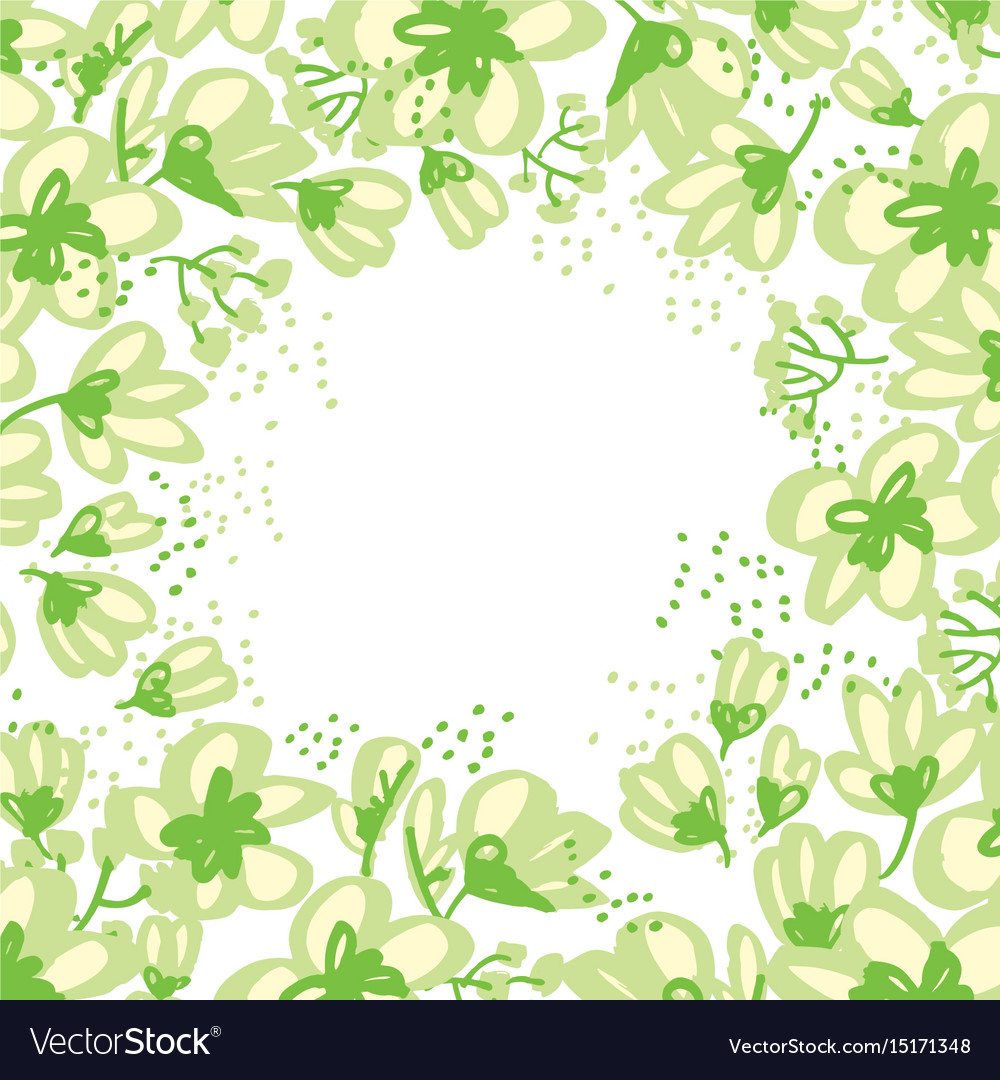 Abstract hand drawn apple blossom