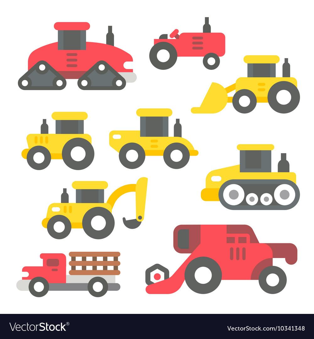 Flat design farm items set