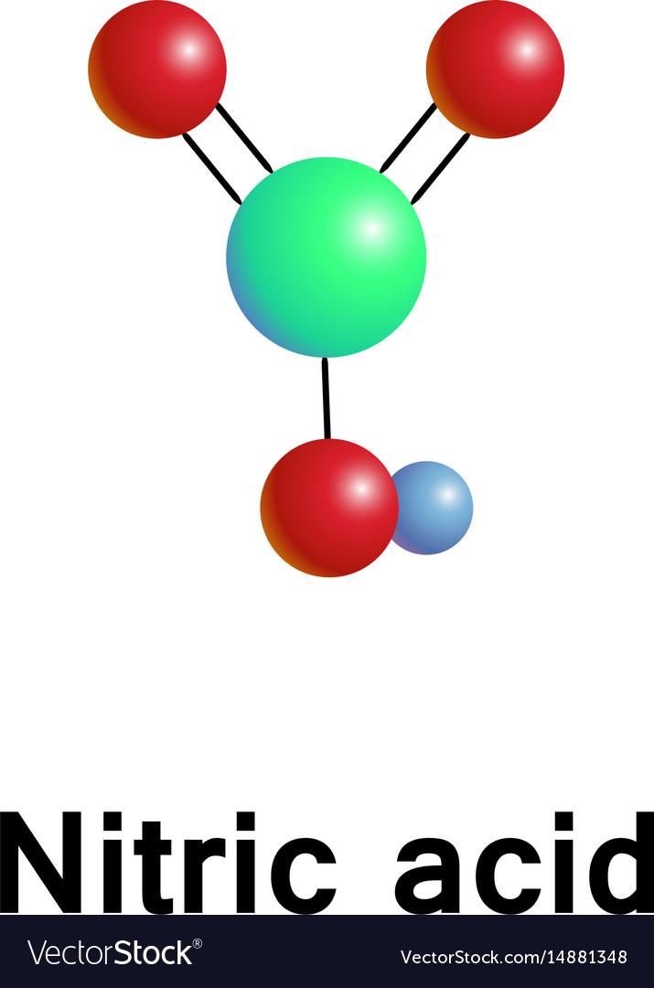 Nitric acid aqua fortis vector image