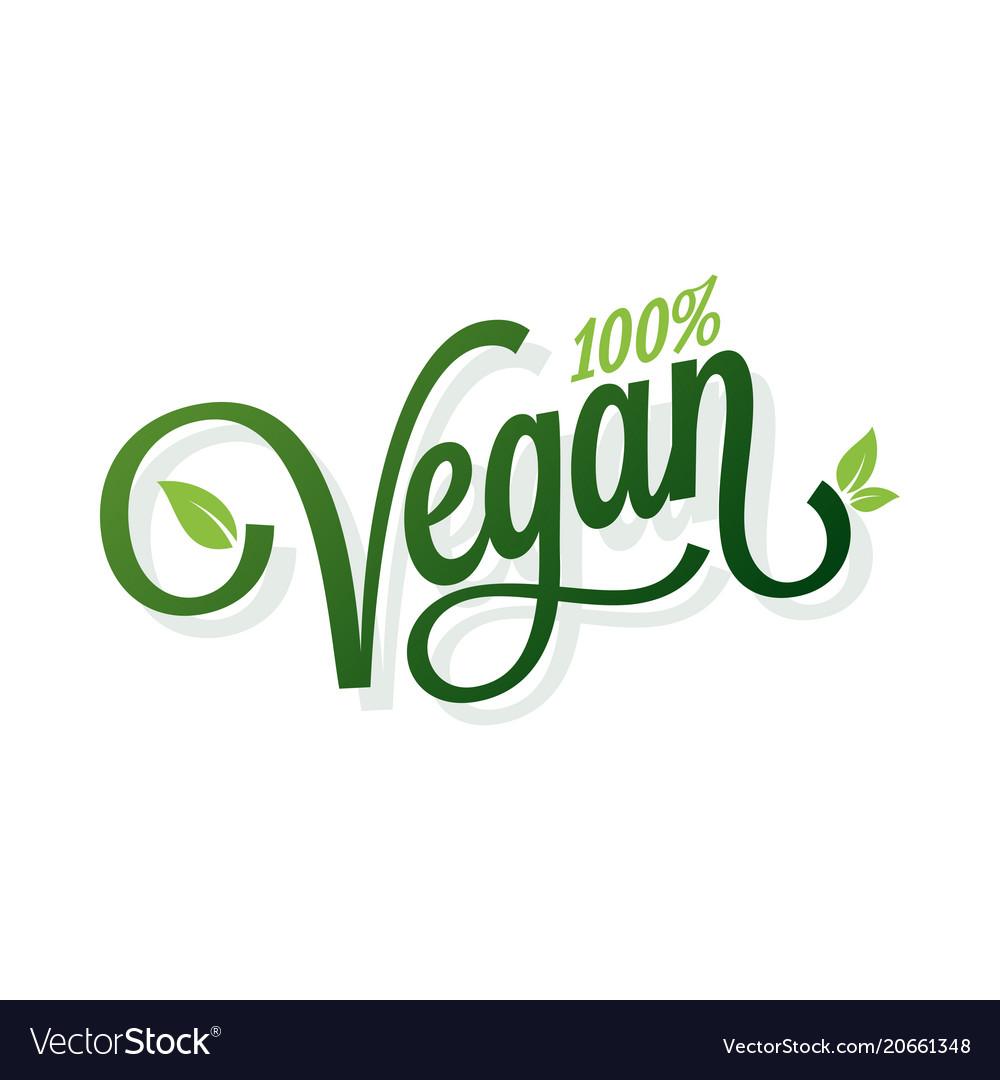 Vegan vintage lettering on white background