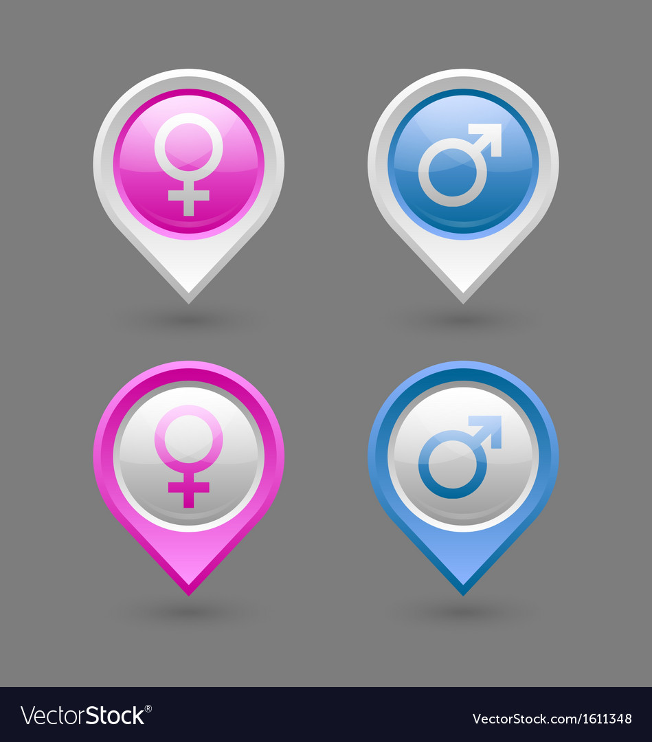 Venus and Mars female and male symbols