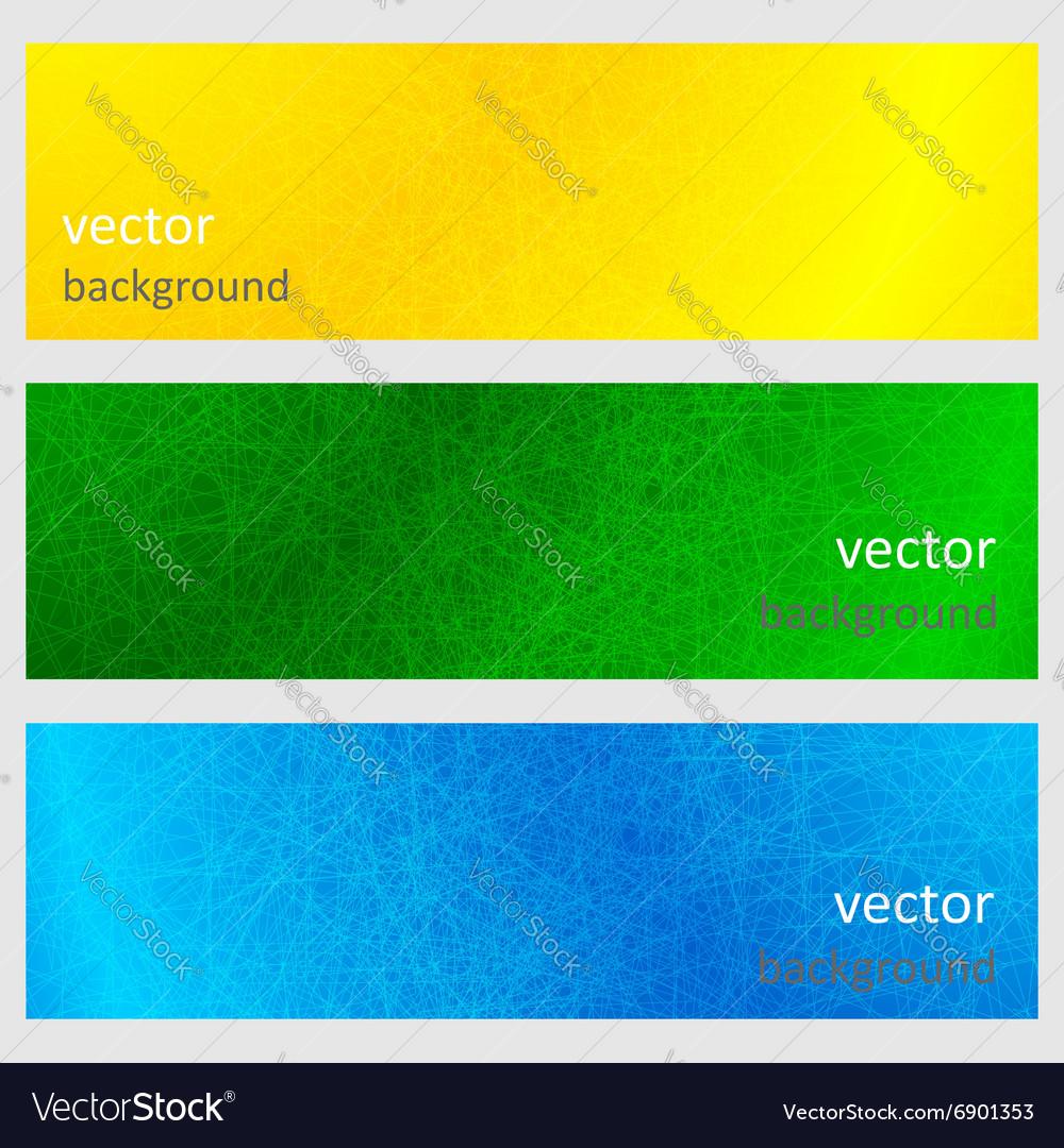 Colorful scratched vintage backgrounds vector image