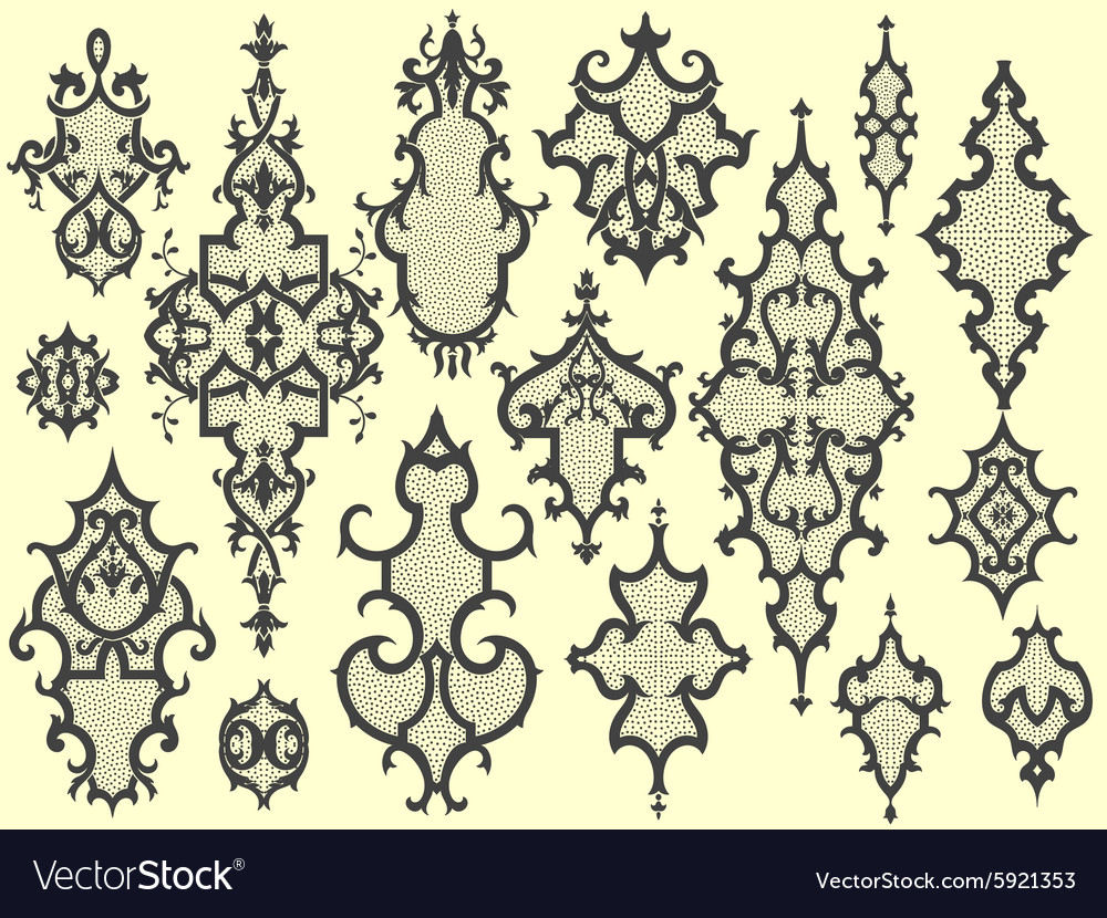 Design elements for wallpapers vector image