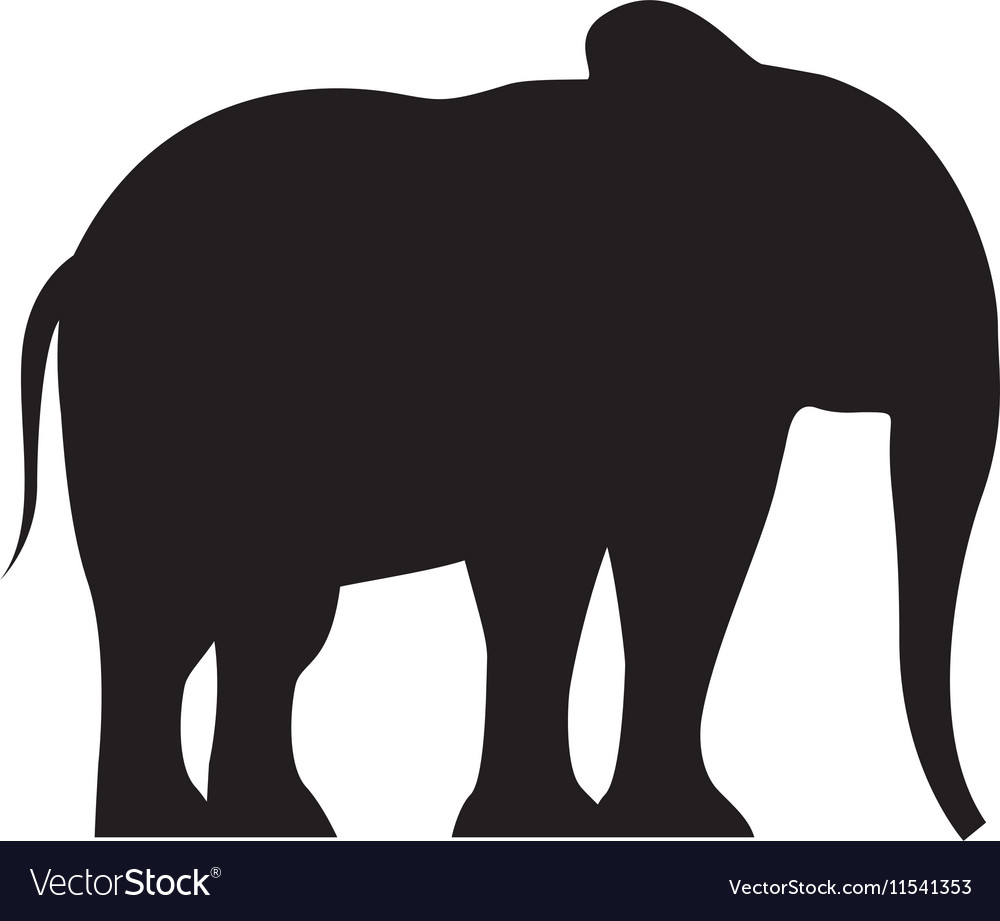 Elephant silhouette isolated icon