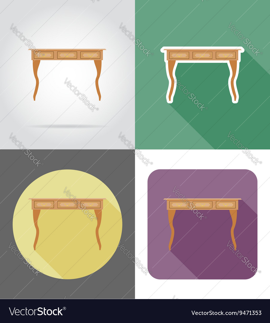 Furniture flat icons 27 vector image