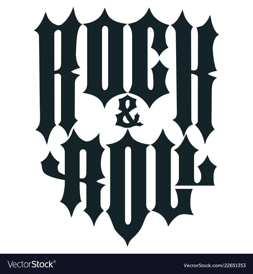 Rock lettering poster or t-shirt design