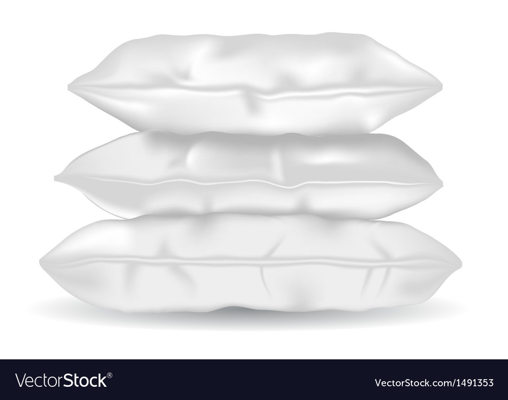 Soft pillows vector image