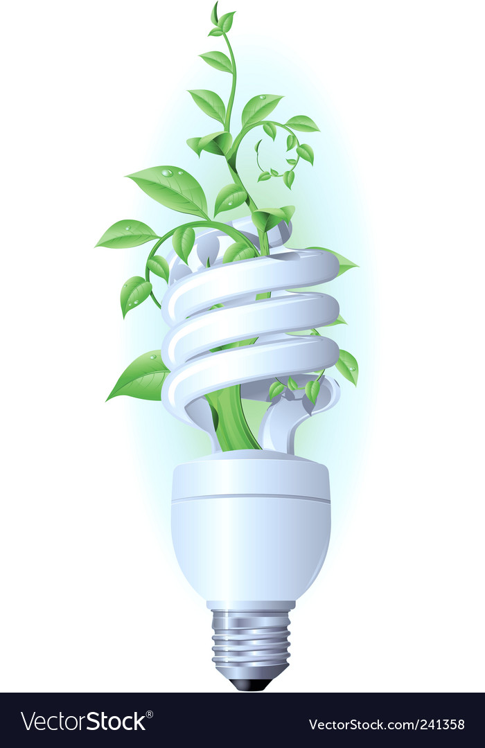 Eco lamp vector image