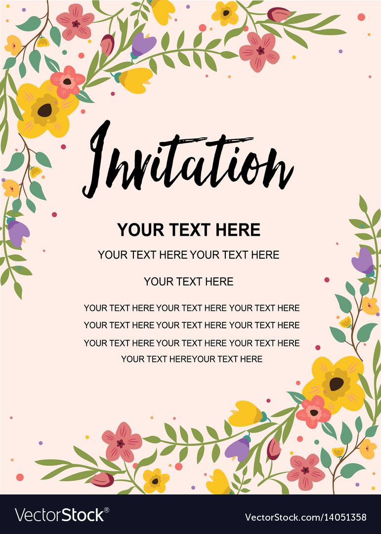Invitation Card Template Saves Wpart Co