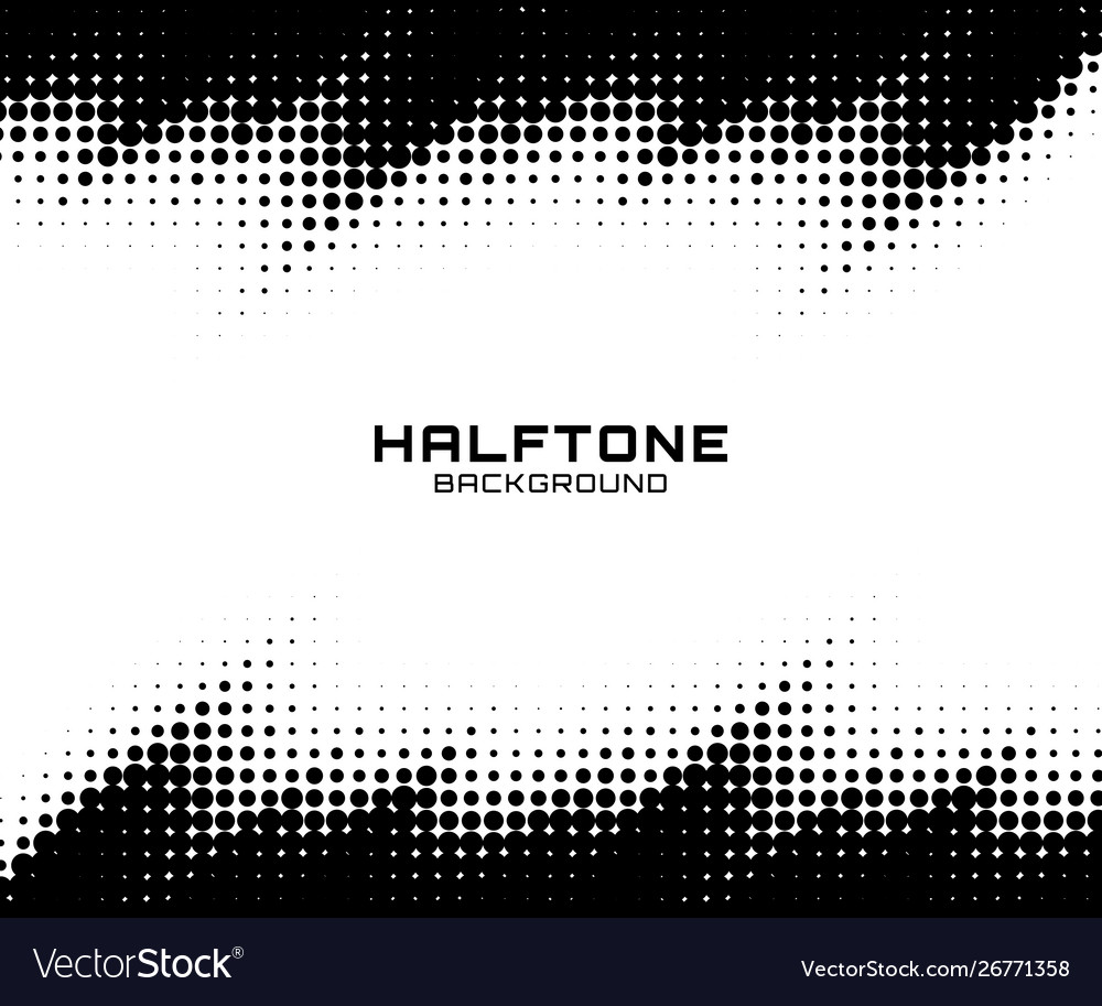 Halftone dots grunge texture horizontal background