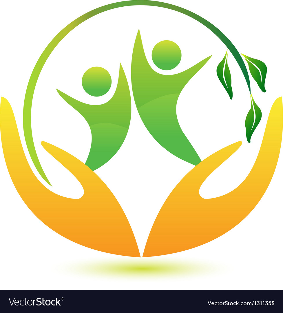 Healthy and happy people logo