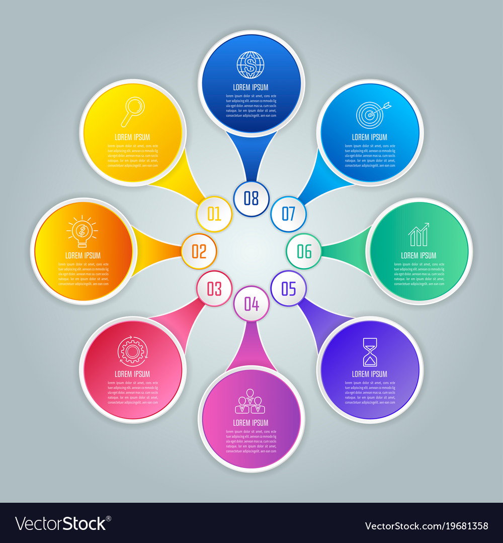 Infographic design business concept with 8 options vector image