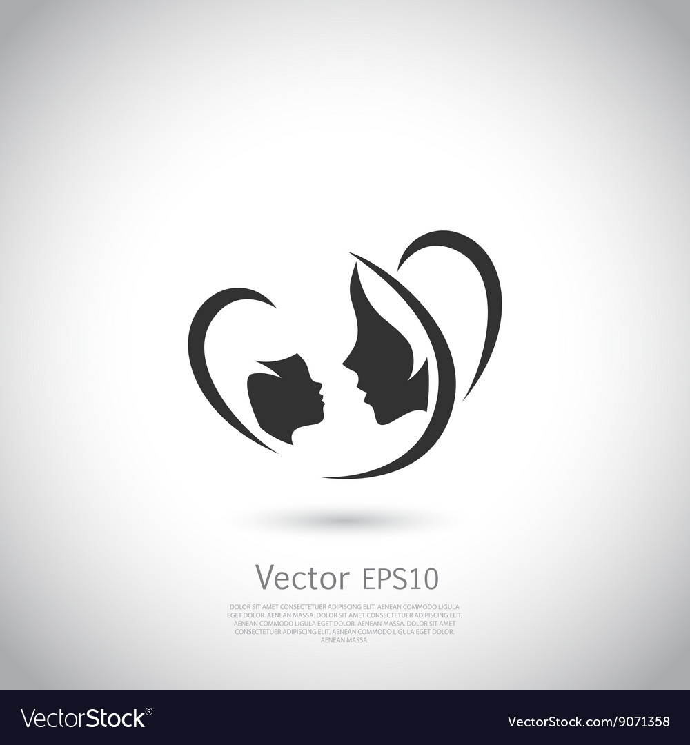 Logo mother and her baby