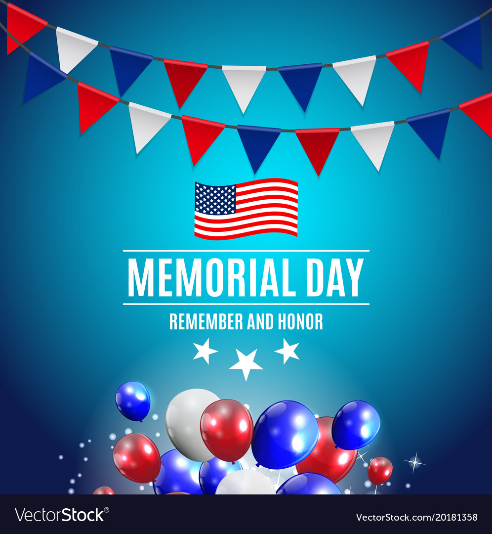 memorial day background template royalty free vector image
