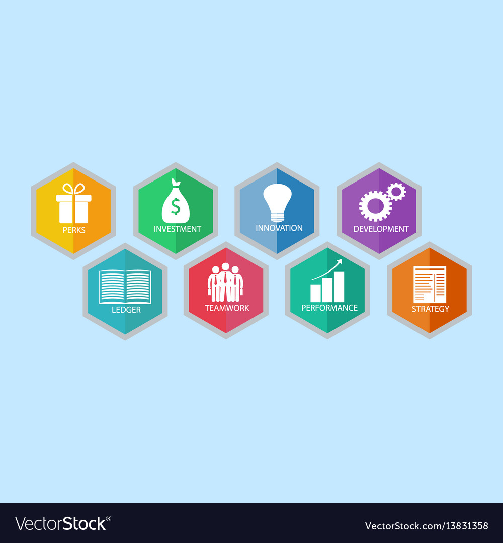 Modern business idea with eight options vector image