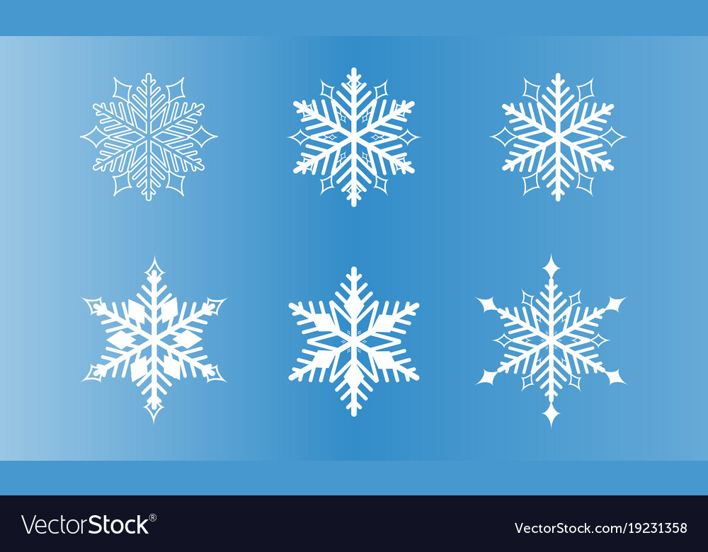 Set of snowflake