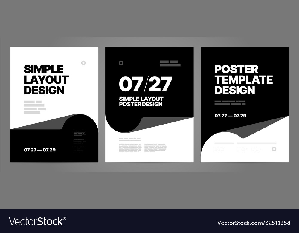 Simple template design with typography for poster