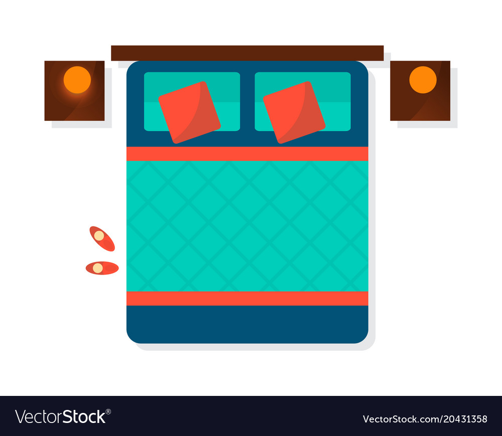 Top View Bedroom Interior Element Royalty Free Vector Image