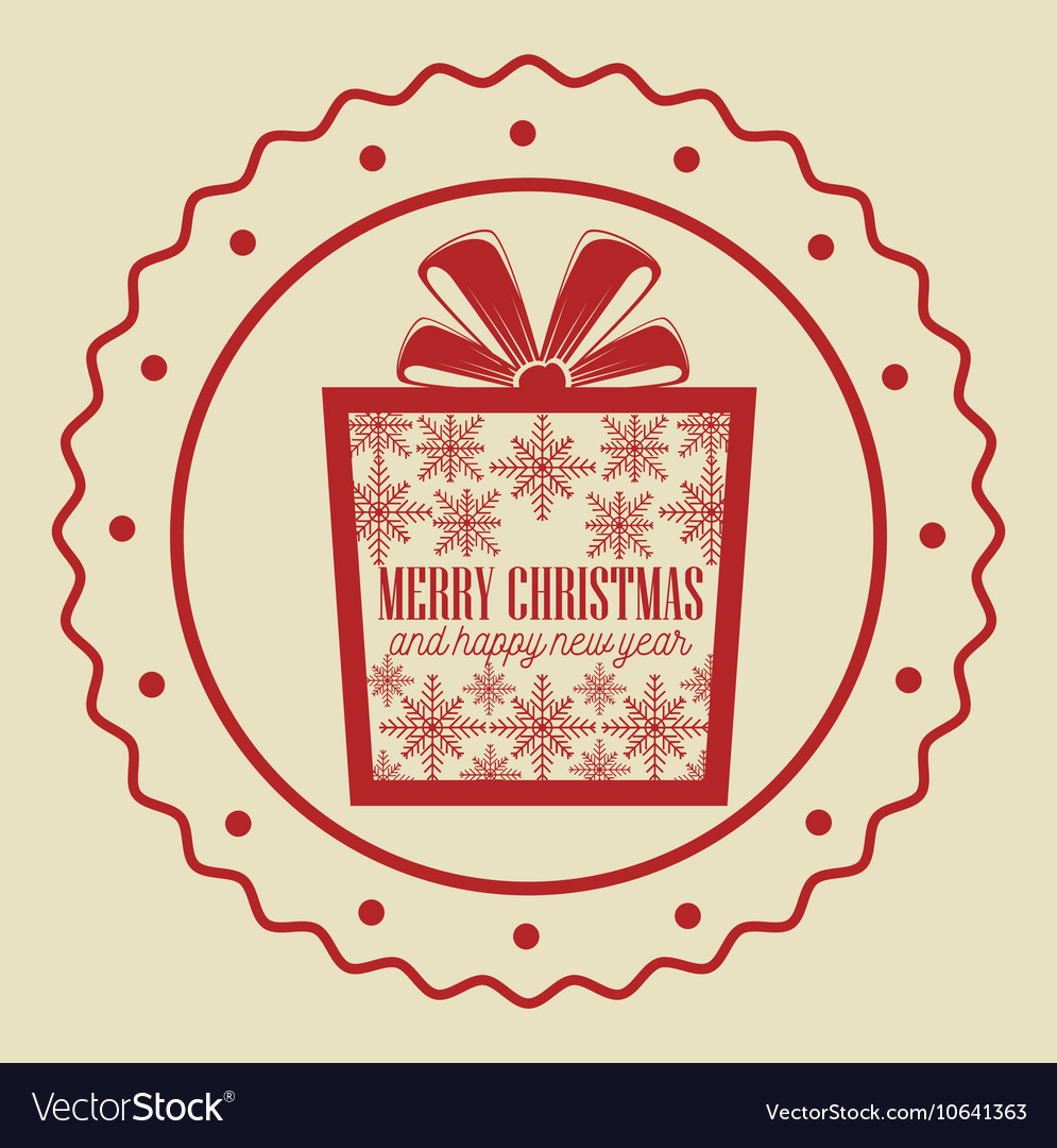 Card gift merry christmas and new year design