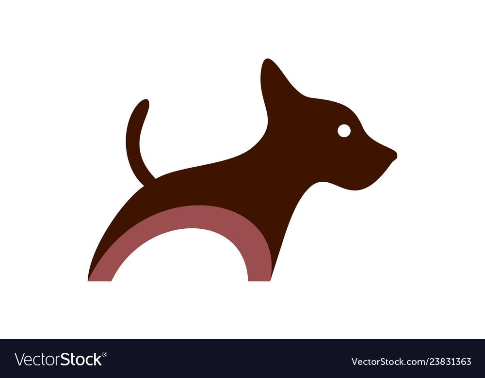 Dog concept icon logo