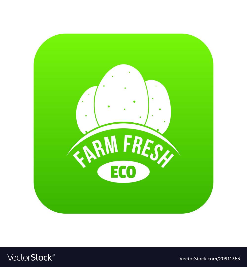Eco farm fresh icon green